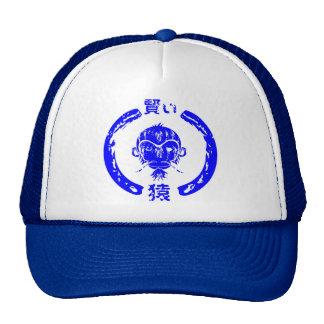 Azul sábio do macaco boné