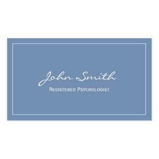 Azul simples cartão de visita registrado do psicól