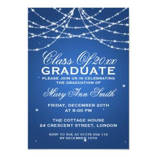 Azul Sparkling da corda da festa de formatura Convite