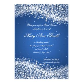 Azul Sparkling da onda da festa de aniversário do
