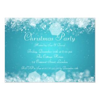 azul Sparkling elegante da noite do convite de