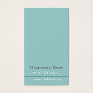 Azul subtil simplista lustroso mínimo listrado cartão de visitas
