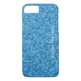 Azul Textured com grade do labirinto Capa iPhone 7