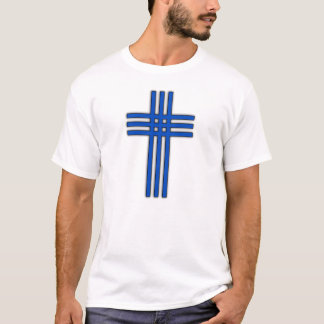 azul transversal camiseta