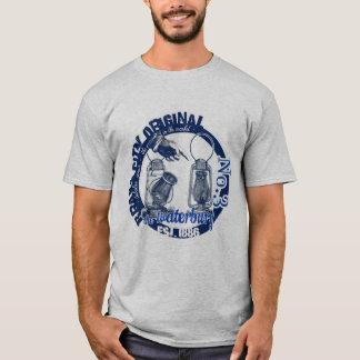 AZUL tubular da camisa da lanterna da cidade de