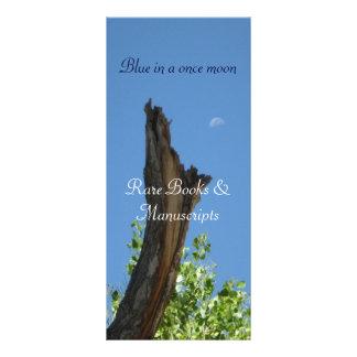 Azul uma vez em um buckslip do moon_bookmark 10.16 x 22.86cm panfleto