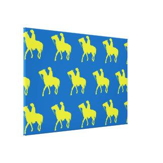 Azul verde do vaqueiro impressão em tela