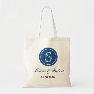 Azul Wedding personalizado da sacola   do Sacola Tote Budget