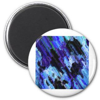 azulado ímã redondo 5.08cm