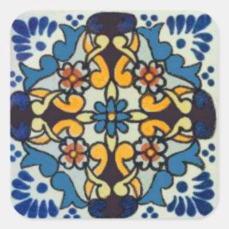 Azulejo 1 de Talavera Adesivo Quadrado
