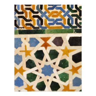 Azulejo #3 da parede de Alhambra Papel Timbrado