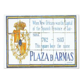 Azulejo 3 do espanhol convite 12.7 x 17.78cm
