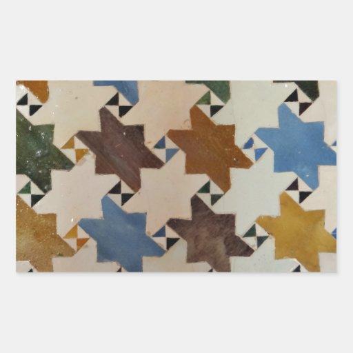 Azulejo #5 da parede de Alhambra Adesivos Retangular