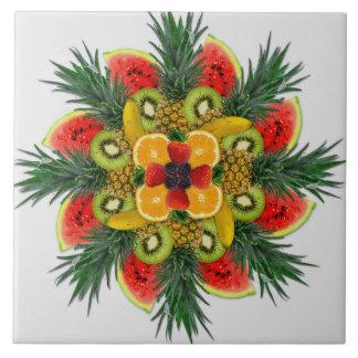 Azulejo alaranjado da fruta da banana do quivi da