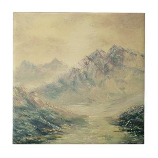 Azulejo alto da paisagem da montanha