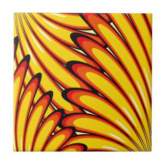 azulejo amarelo abstrato dos girassóis