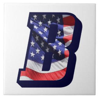 """Azulejo americano da foto da letra """"B"""" da bandeira"""