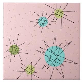 Azulejo atômico icónico cor-de-rosa de Starbursts