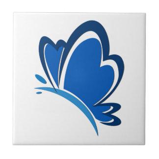Azulejo azul da borboleta