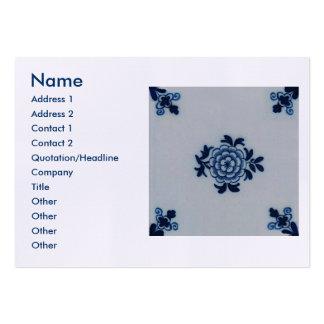 Azulejo azul de Delft do Antiquarian clássico - Cartão De Visita Grande