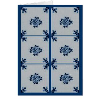 Azulejo azul de Delft do Antiquarian clássico - mo Cartão Comemorativo