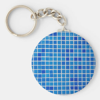 azulejo azul do banheiro chaveiro