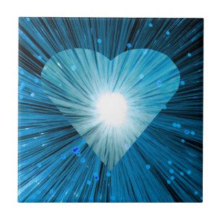 Azulejo azul do coração