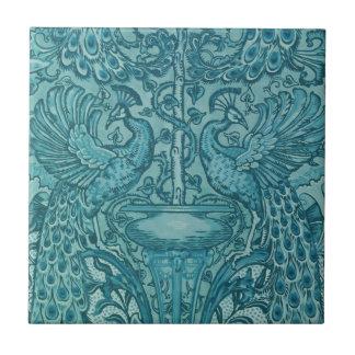 Azulejo azul do pavão