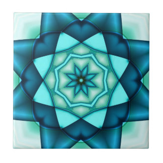 Azulejo azul vibrante de turquesa