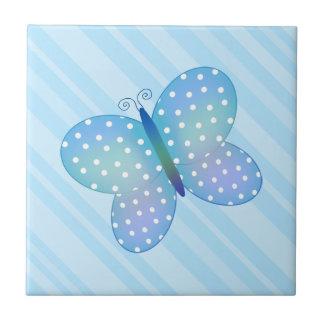 Azulejo B da borboleta das bolinhas