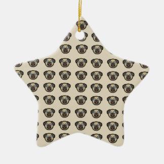 azulejo BG do pug Ornamento De Cerâmica
