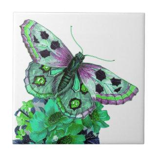 Azulejo bonito da flor de borboleta