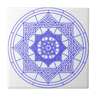 Azulejo celta do teste padrão de estrela do nó
