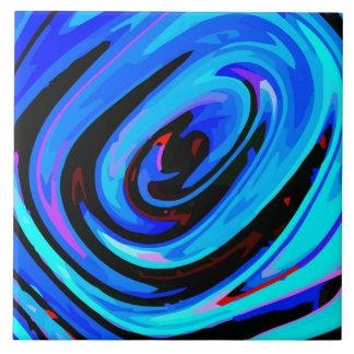 "Azulejo cerâmico colorido ""azul"" de sentimento da"
