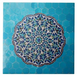 Azulejo cerâmico da foto do mosaico islâmico do