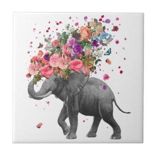 Azulejo cerâmico da foto do respingo do elefante