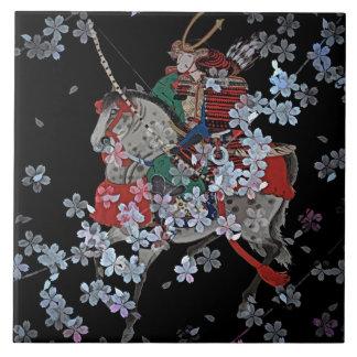 """Azulejo cerâmico da foto do samurai grande (6"""" X"""
