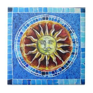 "Azulejo cerâmico pequeno da foto de ""Sun"" - (4,25"""
