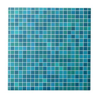 Azulejo cerâmico pequeno ou grande azul da foto