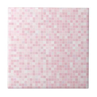 Azulejo cerâmico pequeno ou grande cor-de-rosa da