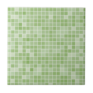 Azulejo cerâmico pequeno ou grande verde da foto