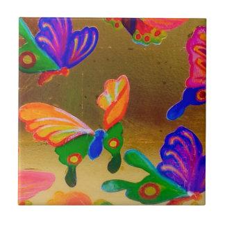 Azulejo colorido 2 da borboleta do Chinoiserie