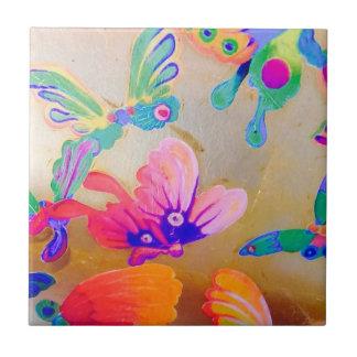 Azulejo colorido da borboleta do Chinoiserie