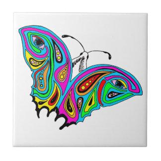 Azulejo com design do abstrato da borboleta