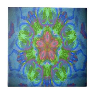 Azulejo com design floral