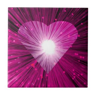 Azulejo cor-de-rosa do coração