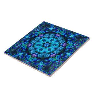 Azulejo coral da mandala do Cornucopia