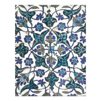 Azulejo curdo da cerâmica, Syria, cerca do século Papel Timbrado