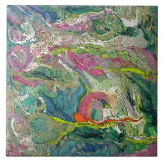 Azulejo da arte abstracta do Expressionism grande