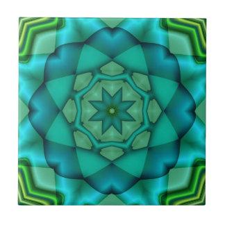 Azulejo da arte do Fractal do verde azul
